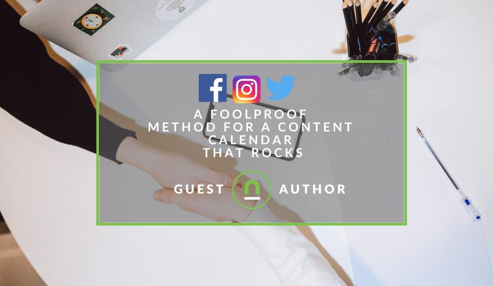 Building a social media content calender