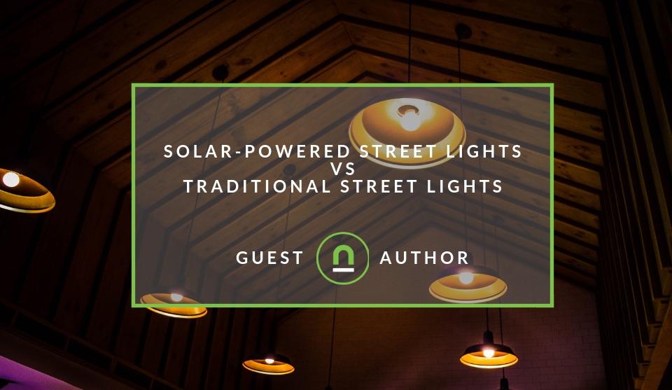 Solar vs traditional lighting