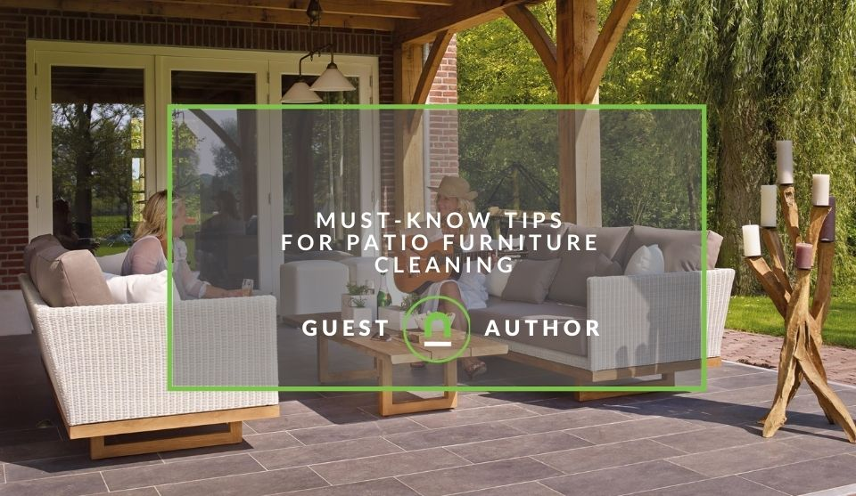 Cleaning patio furniture tips