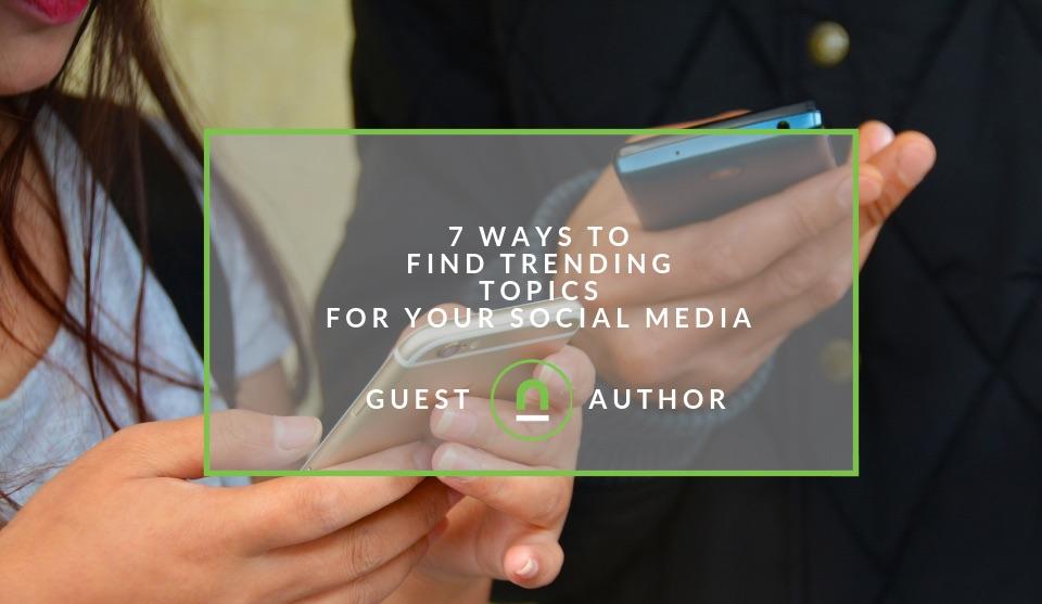 Find trending topics social media