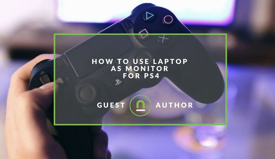 Set up laptop as PS4 screen
