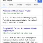 AMP pages in SERP
