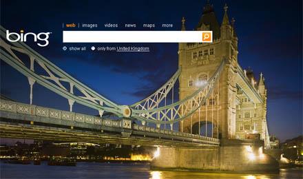 Bing Landing page