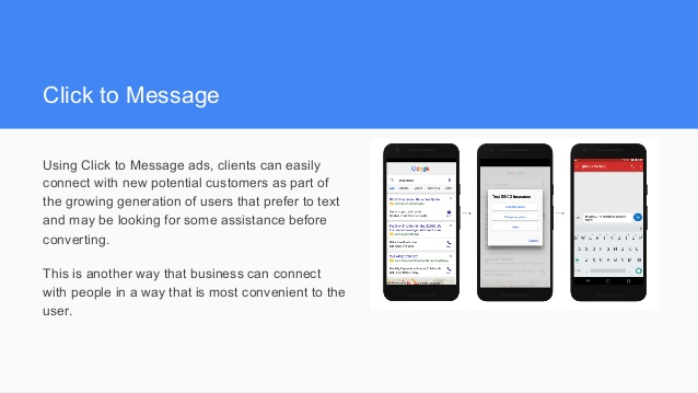 Click to Message Ads with Adwords