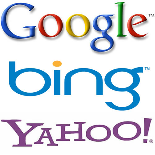 google, bing and yahoo