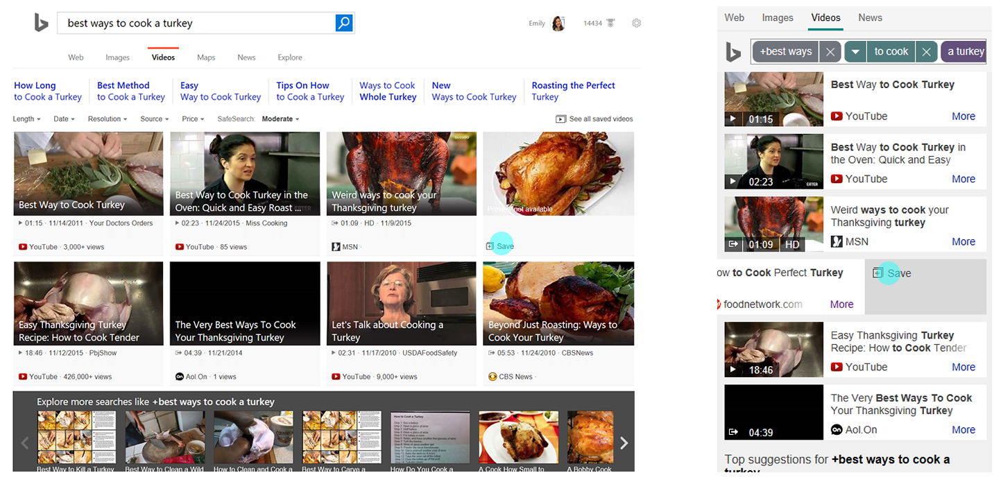 Bing save search results