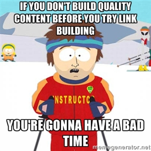 Linking to quality content