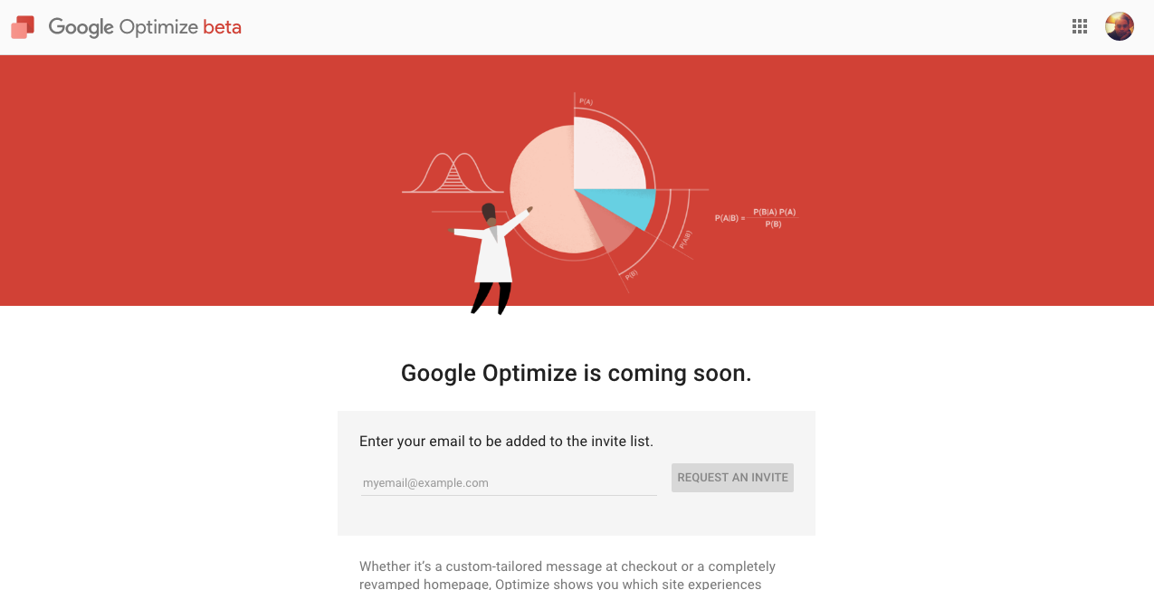 Google Optimize sign up
