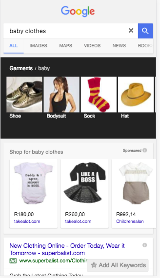 Baby clothes google search mobile