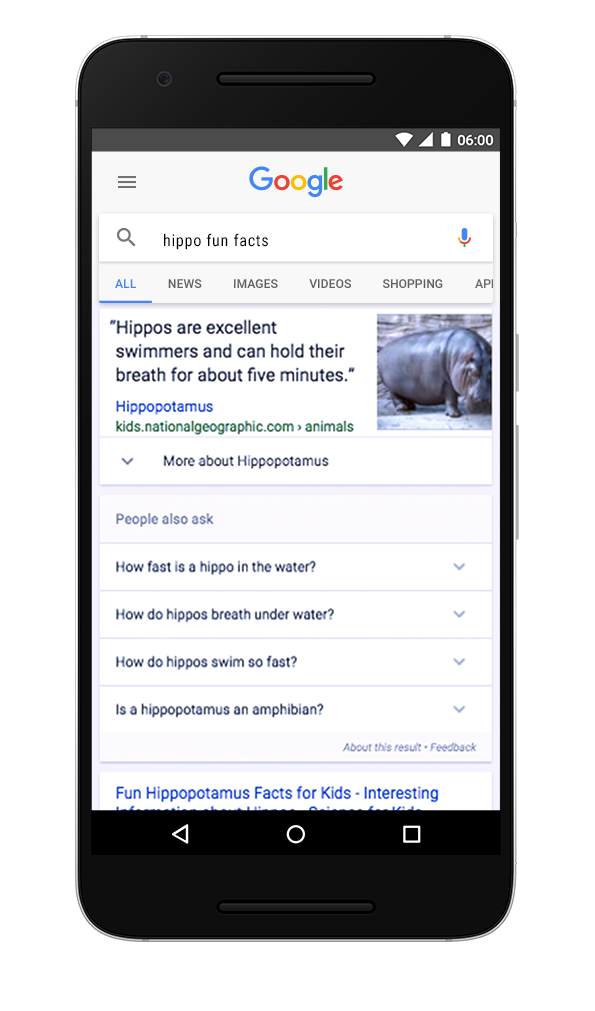Search for fun facts about hippos