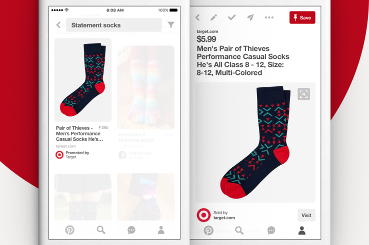pinterest search ads - socks