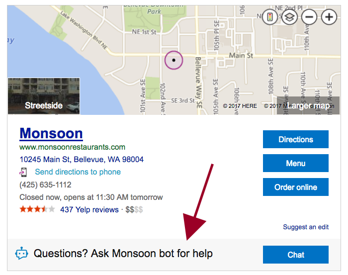 Monsoon search bing chat bot