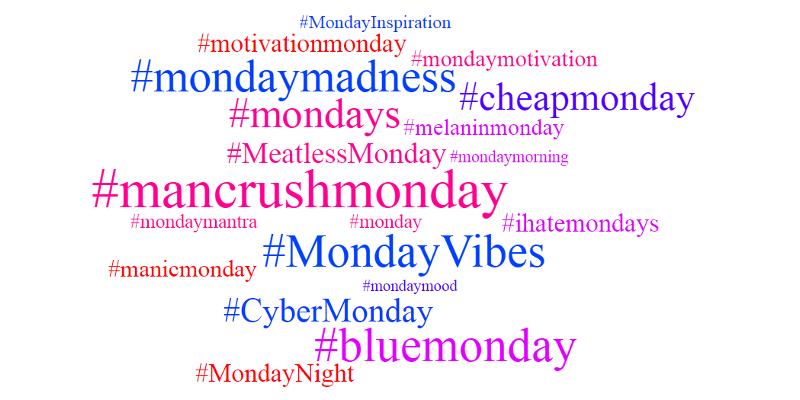 hashtags-mondays