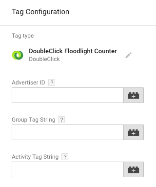 FloodLight counter Tag manager setup