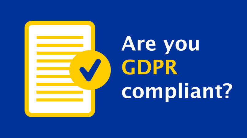 Are you GDPR (General Data Protection Regulation) Compliant? Illustration