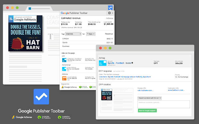 Google Publisher Tool bar