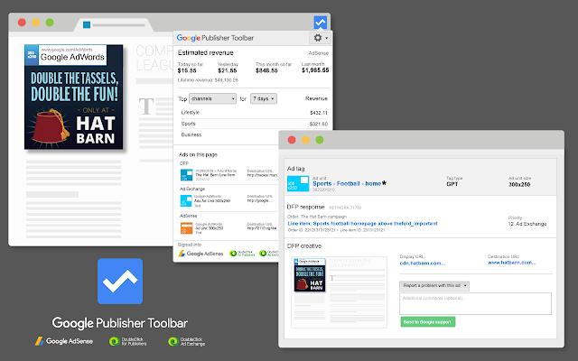 Google Publisher Tool bar