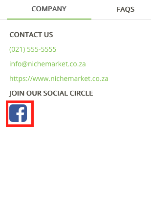 link your social media accounts with nichemarket