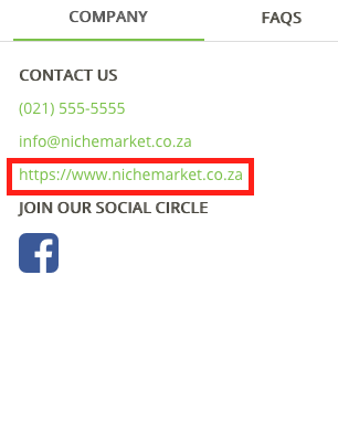 Linking your site to nichemarket