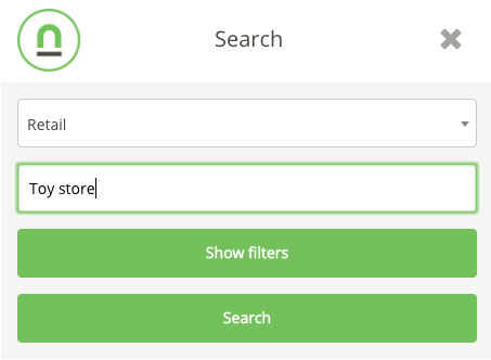Mobile search with category filter