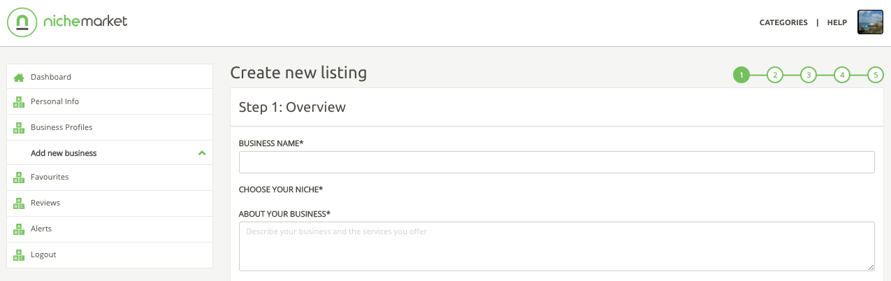 Adding your business listing mandatory fields